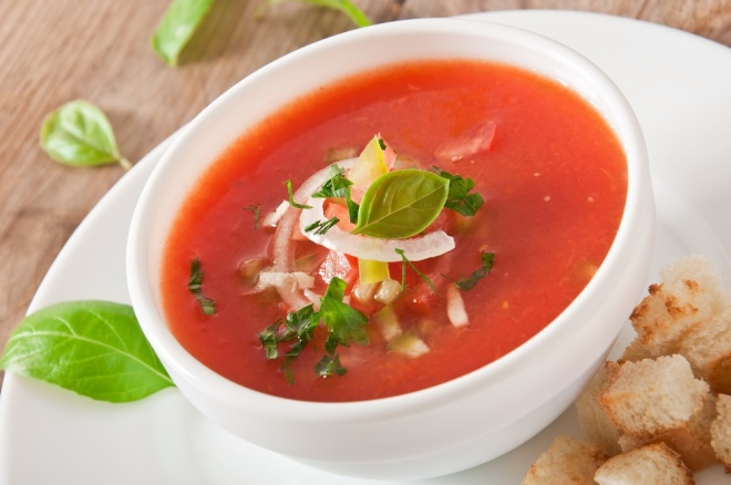 Gaspacho - cold Spanish soup
