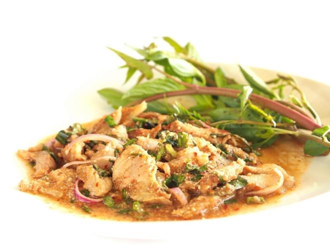 Nam Tok Moo, Thai spicy salad with pork