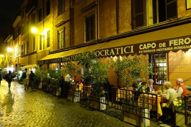 Rome, Trastevere restaurants