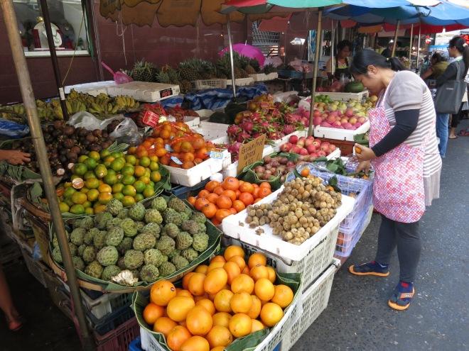 Bangrak fruit market in Bangkok, Thailand