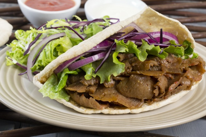 Donner Kebab in pita bread