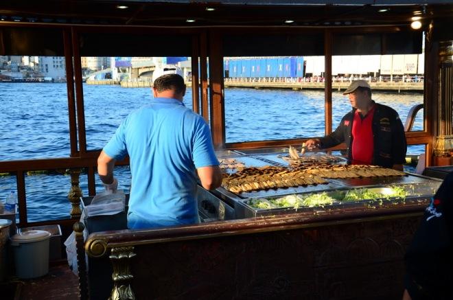 Istanbul fish frying