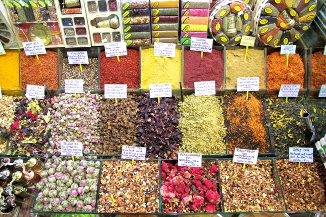 Spices at Spice Bazaar, Istanbul