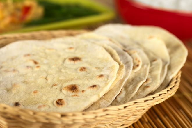 Indian chapati flatbread