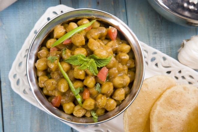 Chana masala - spicy chickpeas