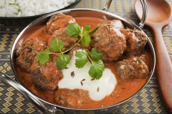 Kofta - spicy Indian meatballs