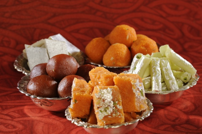 bowls of traditional indian sweets_resize