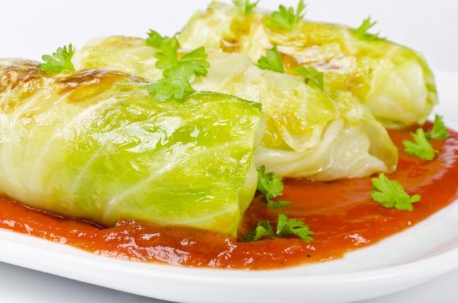 Polish golabki - stuffed cabbage rolls