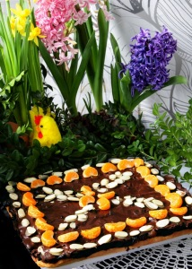 traditional easter cake called Mazurek_resize